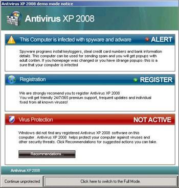 آنتی ویروس جعلی