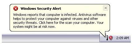 یک آنتی ویروس جعلی