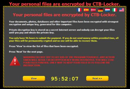 باج افزار پیشرفته و خطرناک  CTB-Locker