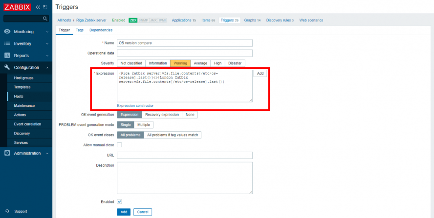 Triggerها عملیاتهای همراه با داده متنی را پشتیبانی میکنند.
