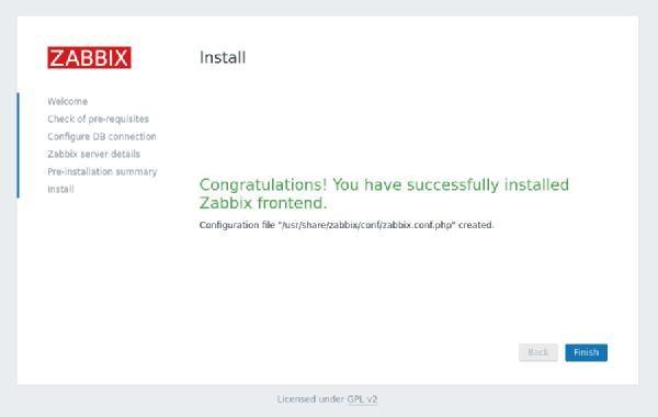 تصویری از صفحه تکمیل نصب زبیکس نمایان میشود - سدیدآفرین - نمایندگی زبیکس در خاورمیانه