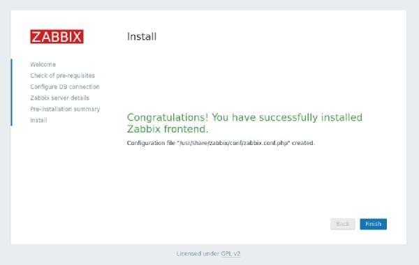صفحه اطلاع از نصب رابط شبکهی زبیکس
