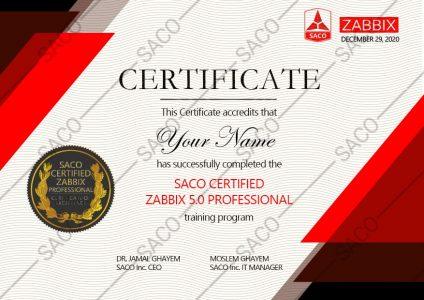 عکس مدرک  Zabbix Professional